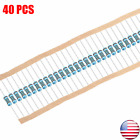 14w .25 Watt 1 Tolerance Metal Film Resistor 40 Pieces Usa Seller