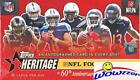 2015 Topps Heritage NFL Football Factory Sealed Box with AUTOGRAPH FOILBOARD P