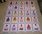 Handmade Machine Stitched Large Quilt Native American Girls Indian Women 92 x