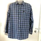 Vintage Tommy Jeans Plaid Blue L Long Sleeve Button Up Shirt Checkered Mens