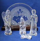 5 Piece Waterford Nativity Collection Bethlehem Back w Base Holy Family