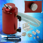 350ML Capacity Round Cylinder Aluminum Oil Catch Can Reservoir Red For Honda