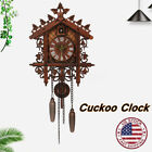 US Wood Cuckoo Clock Forest House Swing Wall Alarm Handcraft Room Decor !