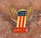 Extremely RARE Pristine Vintage Harley Davidson 1 Wings Lapel Vest Pin MINT