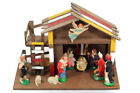 Wooden Stable with 12 Pcs Figures Nativity Set Real Wood Stable 14 1 4