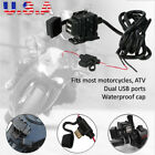 USB Charger Cigarette Lighter Socket For Suzuki Intruder Volusia VL800 VL1500