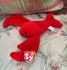Ty Beanie Baby Pinchers Original,Multiple Misprints on BOTH heart and tush tags