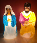 Large Life Size Empire Christmas Blow Mold Nativity Set Mary  Joseph