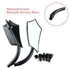 Motorcycle Tricycle Refit pedal Reflector Rearview Mirror Durable 10mm Handlebar