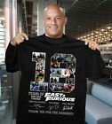 18 year of Fast and Furious thank you for the memories signature Tee Shirt HOT