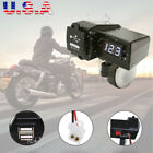 Dual USB Charger Blue LED Voltmeter For Victory BMW Touring Cruiser Sports Bike