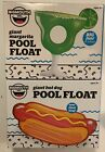 Lot Of 2 Big Mouth Pool Floats Margarita And Hotdog Rafts Swimming Fun NEW