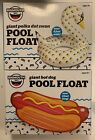 Lot Of 2 Big Mouth Pool Floats Swan And Hotdog Floats Rafts Swimming Fun NEW