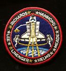 STS 64 SPACE SHUTTLE MISSION CREW 4 INCH ROUND PATCH INNER GOLD BULLION THREAD