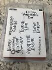 Stampin Up Wacky Wishes Retired Stamp Set Hostess Christmas Birthday Easter