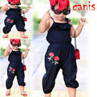 Toddler Kids Baby Girls Strap Flowers Romper Jumpsuit Playsuit Outfit US STOCK