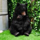 Ebros Gift Realistic Black Bear with Cub Figurine Statue Large 20 Tall