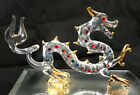 Glass Baron ORIENTAL DRAGON Figure w Crystal  Gold Accents S4 577C K