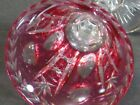 VINTAGE VAL ST LAMBERT CRANBERRY CUT TO CLEAR CRYSTAL CORDIAL GLASS S 5 RARE