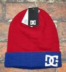 MENS DC SHOES BEANIE HAT RED ROYAL BLUE CAP ONE SIZE