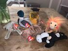 TY BEANIE BABIES COLLECTION LOT OF 6- Jake Scat Smartest Pecan W Tags -2w/out