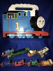 Vintage 1994 THOMAS THE TRAIN Lot - ERTL Case & 8 Diecast Trains