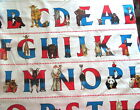 100 Cotton Fabric Alphabet Ark Strip by Micheal Miller Fabric ABCs on White