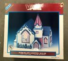 LEMAX Vail Village Porcelain Lighted House 1995 St. Luke's Church Stained Glass