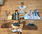 Nativity Wood Extra Large 1 Inch Thick Wood