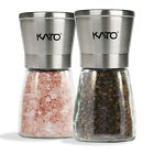 Manual Salt and Pepper Grinder Set Stainless Steel Pepper Mills 2 PCs US SHIP