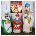 1982 VTG Christmas Blow Mold Plastic Nativity Wise Men Set Of 3 Carolina Ent