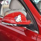 Hello Kitty Smile Cute Paperclip Cover Scratches Reflective Car Stickers 1 Pair