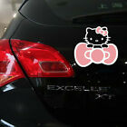 Hello Kitty Cute Bows Cute Paperclip Cover Scratches Reflective Car Stickers 1pc