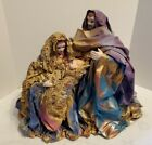 Christmas Dreams inc cloth Nativity scene Jesus Mary Joseph fabric mache 18