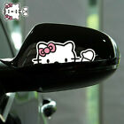 Hello Kitty Say Hi Cute Paperclip Cover Scratches Reflective Car Stickers 1 Pair