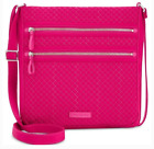 Vera Bradley Womens Iconic Triple Zip Hipster Passion Pink One Size88