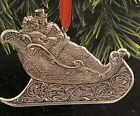 RARE NEW 1997 HALLMARK OUR CHRISTMAS TOGETHER FINE PEWTER CHRISTMAS ORNAMENT N