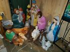 Vintage empire blow mold nativity 13 piece set