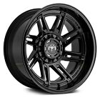 Motiv 425B MILLENIUM Wheels 20x9 (18, 6x139.7, 106.2) Black Rims Set of 4