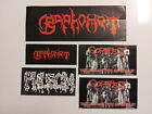 5 DEATH METAL OLD SCHOOL STICKER LOT BAPHOMET GOREFEST PHLEGM