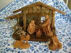 Antique GGLang sel Erben Oberammergau Nativity Scene Hand Carved Germany