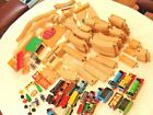 Huge Mixed Lot Thomas Trains Wooden Tracks, Bridges & More BRIO TOMY MATTEL 18lb