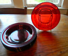 Anchor Hocking Royal Ruby 8 Flat Bowls 8.5 d Red Glass