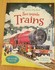 See Inside Trains (Usborne Flap Book) by Bone, Emily, King, Colin