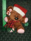 Ty Beanie BUDDY * CHRISTMAS POOKY in SANTA HAT * NEW * RETIRED * EXTREMEY RARE