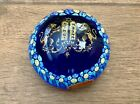 Vintage Murano Italy Millefiori Lions of Judea Blue Glass Paperweight