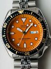 Freshly Serviced Seiko Automatic Diver's watch SKX011J 7S26-0020 Orange Dial