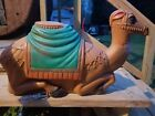VTG 27 POLORON CAMEL NATIVITY CHRISTMAS BLOW MOLD LIGHT UP YARD DECOR MANGER