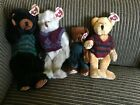 lot of 4 Ty  Beanie Baby Collectible  Frederick, Henry,Boris Berry