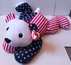 TY Beanie Babies VINTAGE RETIRED Pillow Pal SPARKLER Plush Patriotic Bear